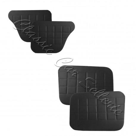 ensemble 4 panneaux de portes simili noir simca 1000/simca 1000 rallye