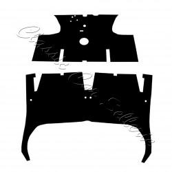 kit moquette Renault 8 noir 2 pièces