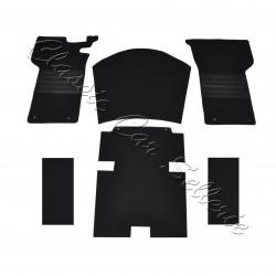 kit moquette sol peugeot 404 cc 6 pièces noir
