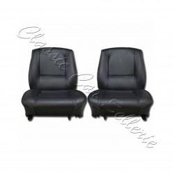 Ensemble 2 garnitures de sièges avant simili noir Renault 15TL