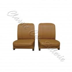 ensemble 2 garnitures de sièges avant simili caramel rodéo 4