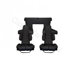 ensemble garnitures de sièges complet simili noir alpine A310 V6