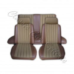 ensemble complet garnitures de sièges velours beige/simili marron Peugeot 104ZL