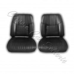 ensemble 2 garnitures de sièges avant simili noir alpine A110 1300/1600S
