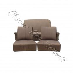 ensemble complet garnitures de sièges tissu écorce marron peugeot 203 berline
