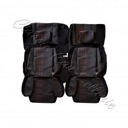 ensemble garnitures de sièges complet tissu fanion rouge Renault 5 gt turbo phase 2