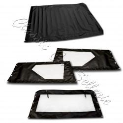 jeu de bâches complet 2ème version avec habillage de haut de porte PVC noir rodéo 4