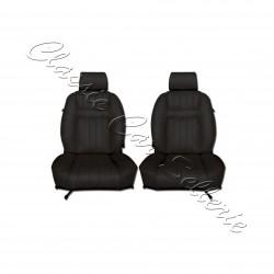ensemble 2 garnitures de sièges avant simili noir Peugeot 504cc