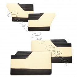 ensemble 4 panneaux de portes simili noir/crème simca ariane