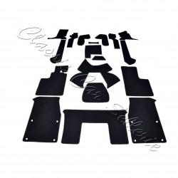 kit moquette alpine A310 V6 velours noir 18 pièces