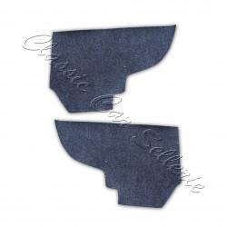 kit 2 pièces moquettes laterales de coffre colorie anthracite peugeot 205