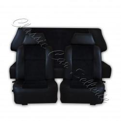 ensemble garniture de sièges complet tissu côtelé noir/simili noir austin mini MK5 année 84/92