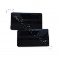 ensemble 4 panneaux de portes tissu côtlé noir /simili noir mini austin MK5 année 84/92