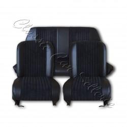 deensemble garnitures de sièges complet tissu côtelé noir/simili noir fiat 500 F/L/R