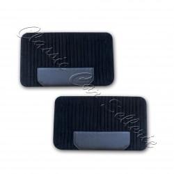 ensemble 4 panneaux de portes tissu côtelé noir/simili noir fiat 500 F/L/R