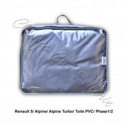 bache bache protection exterieure pvc gris /1 face ouaté renault 5 phase1/2