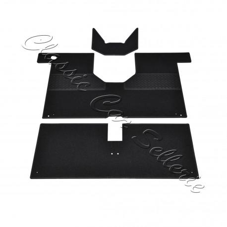 kit moquette renault 4l 3 pi ces noir classic car sellerie. Black Bedroom Furniture Sets. Home Design Ideas