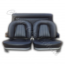 ensemble garnitures sièges complet simili noir lancia fulvia coupé 1973