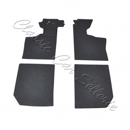 kit moquette sol coloris noir 4 parties renault alpine A110