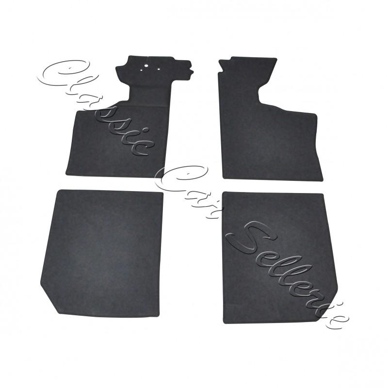 kit moquette sol coloris noir 4 parties renault alpine a110 classic car sellerie. Black Bedroom Furniture Sets. Home Design Ideas