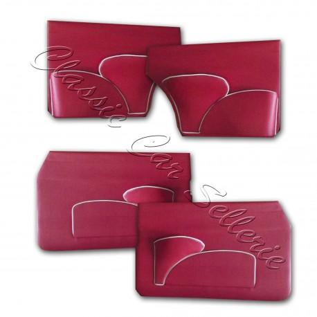 ensemble 4 panneaux de portes simili rouge passepoil blanc jaguar MK2