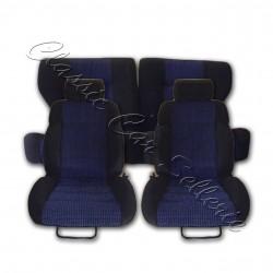 ensemble garnitures complets tissu quartet bleu peugeot 309 GTI 16