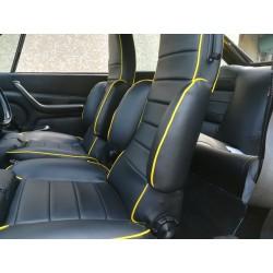 ensemble 2 garnitures de sièges avant simili noir renault 17 TS phase 2