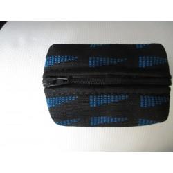 porte monnaie fond cuir/tissu renault gt turbo phase 2 fanions bleus