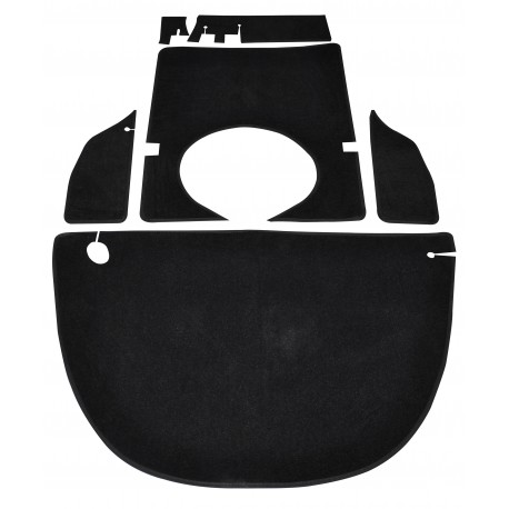 kit moquette velours noir 6 pièces isetta velam